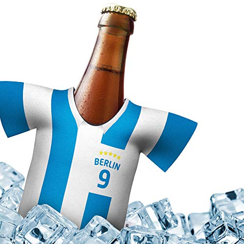 Fan-Trikot-kühler Home für Hertha BSC Fans   DRIBBEL-KÖNIG   1x Trikot   Fußball Fanartikel Jersey Bierkühler by ligakakao.de