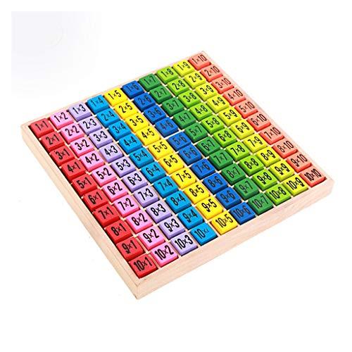 Sipobuy Juguetes de Madera Cien Tablero Montessori Math 10x10 Bandeja de Mesa de Tiempos...