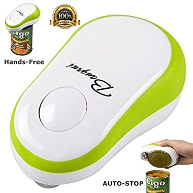 Smooth Edge Electric Can Opener with One Button Start & Auto Stop (Green)