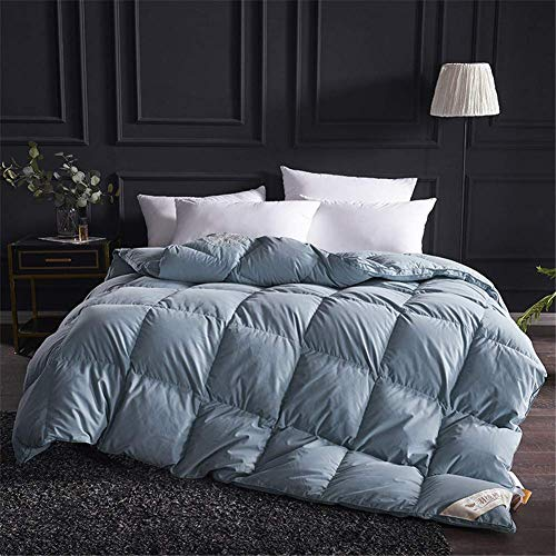 LEILEI White goose down,duvet quilt,King size,100% pure cotton,anti mite,feather proof fabric,pure cotton cover,A,180x220cm3kg