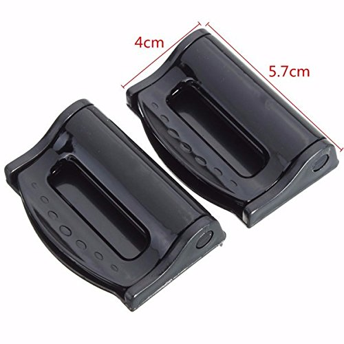 Seat Belt Clips Seat Belt Adjuster For Adults 2Pcs Car Safety Seat Belt Strap Adjuster Clip Clasp for Children Black by Generic