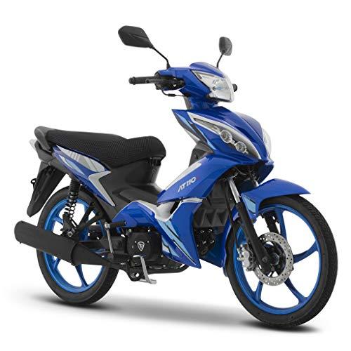 Motocicleta Italika de Trabajo- Modelo AT 110 RT Azul Blanco