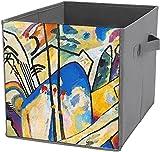 Almacenamiento para ahorrar espacio | Cubo de almacenamiento cuadrado plegable, organizador duradero, composición Wassily cuatro arte abstracto