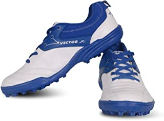 Vector X Blaster Cricket Shoes (White-Blue)