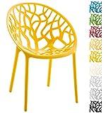 CLP Gartenstuhl Hope aus Kunststoff I Wetterbeständiger Stapelstuhl mit Einer max. Belastbarkeit von 150 kg I erhältlich, Farbe:gelb