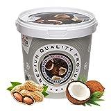 ''PuNuts'' Mantequilla de Cacahuete con Coco y con Almíbar de Dátiles, Textura Crujiente, Sin Grasa de Palma, 100% Natural Peanut Butter 1kg (Cacahuete con coco)