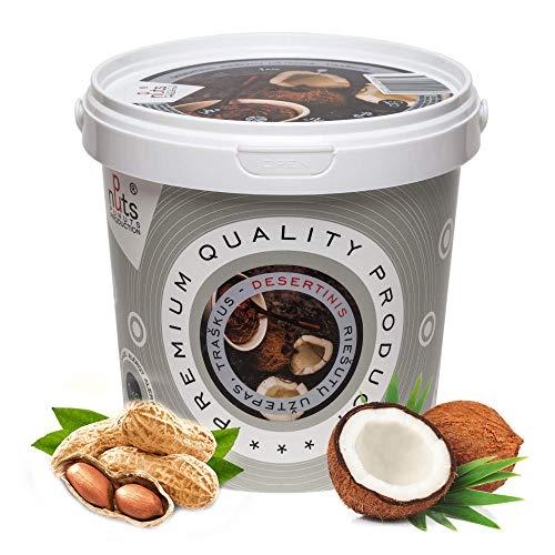 PuNuts 100% Burro Di Arachidi (CRUNCHY) 1kg (Burro Croccante Di Cocco E Arachidi)