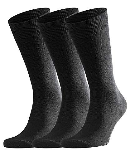 FALKE Herren Socken Family 3-Pack - 94% Baumwolle, 3 Paar, Schwarz (Black 3000), Größe: 43-46