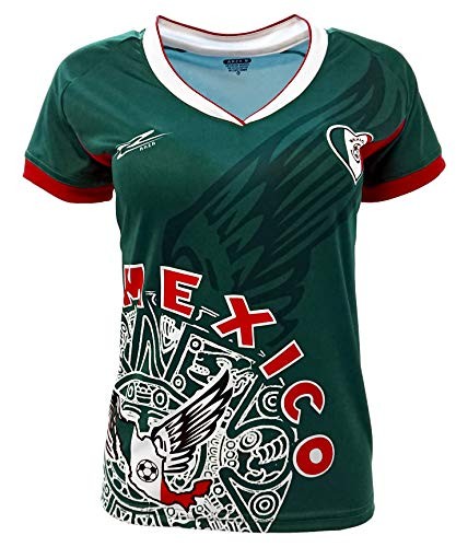 Arza Sports Mexico Womens Soccer Jersey Exclusive Desin (Large, Green)