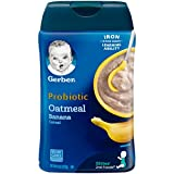 Product Image of the Gerber Baby Cereal Probiotic Oatmeal & Banana Baby Cereal 8 Ounces (Pack of 6)