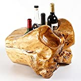 Botellero de Vino, Estante para Botellas de Vino,Soporte para Botellas, Botelleros de Madera para Vino u Otras Bebidas Estantería para Bebidas/A