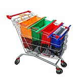 Haiphisi Trolley Bags-4 Pack Reusable Grocery Shopping cart Bags with Cooler Bag-Easy to Use and Heavy Duty-Variety of...