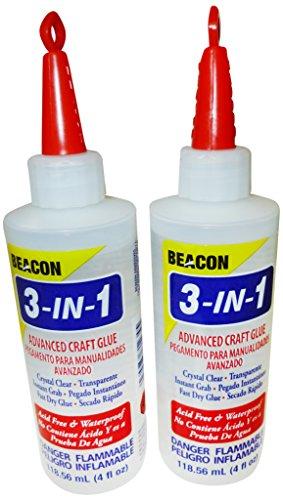 Beacon Adhesive Beacon 118 ml, 3 in 1 moderner Kraftkleber, 2-teiliges Set Handwerk Klebstoff, Andere, Trocknet glasklar, 16x9x4 cm