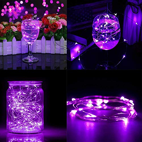 JALAL LED Submersible Waterproof Fairy Light Copper Wire String Lights Base Lamp Great for Home Wedding Party Halloween Christmas Decor
