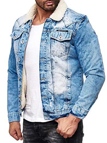 Redbridge Jeansjacke für Herren Jacke Denim Gefüttert Winter Herbst Übergangszeit Blau S