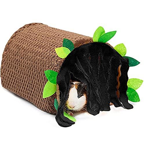 Oncpcare Túneles y escondites de conejillo de indias, accesorios de jaula de rata, juguetes de animales pequeños, cama de casa para hámster chinchilla ardilla