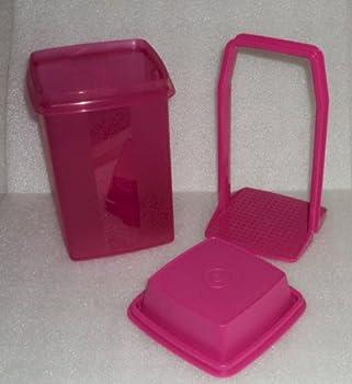 Tupperware 5 Cup Pick A Deli Pickle Keeper Container Fuchsia Pink 7.5-Inch  Original Version