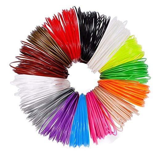 3D Pen Filament Refills PLA, 12 Colors 1.75mm 5m per Color High Quality 3D Printing Pen Filament 3D Printer Filament for Most Intelligent 3D Pen