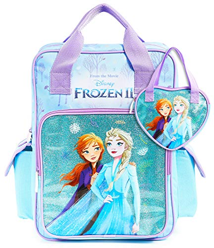 Disney School Bag, Frozen 2 Girls School Bag and Handbag for Girl, Anna and Elsa Large...