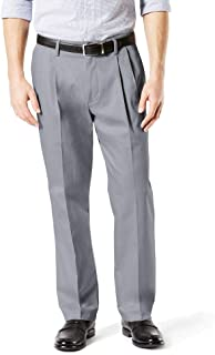 Dockers Men's Big and Tall Classic Fit Signature Khaki Lux Cotton Stretch Pleated Pants