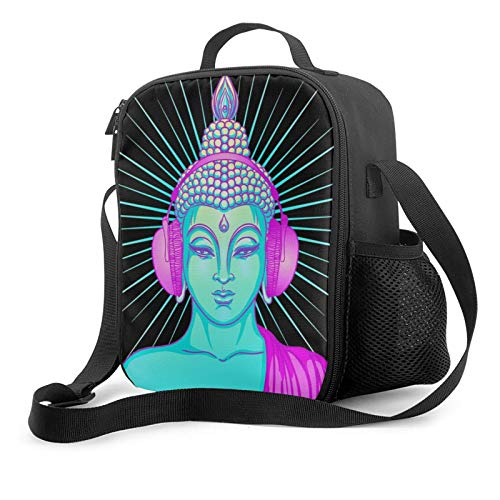 Buddha Groove Pullover Hoodie Portable Thermal Insulation Cold Lunch Bag Picnic Office School