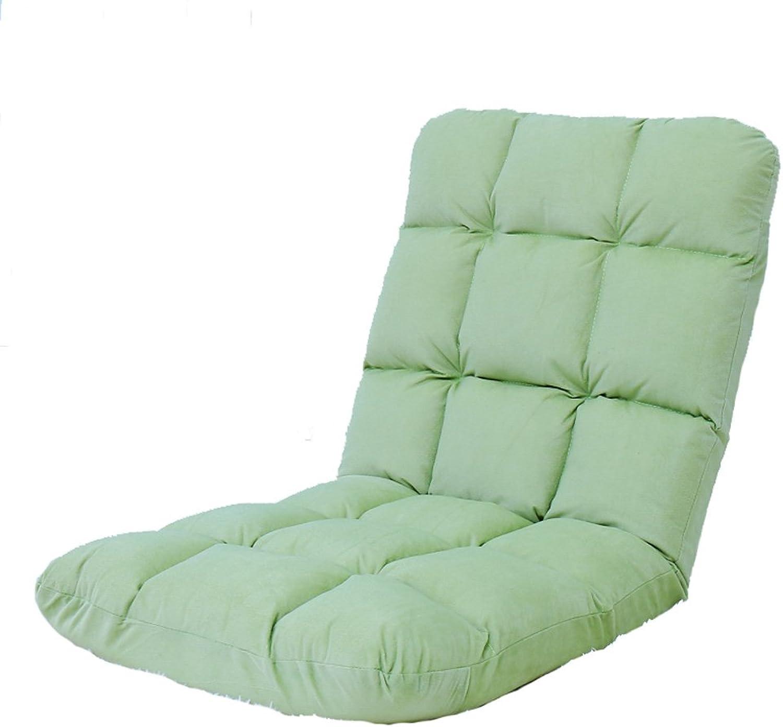 SYF Lazy Sofa Foldable Flannel Floor Chair Breathable Floor Sofa Chair Bed Computer Chair Bay Window Chair -6 color Optional A+ (color   B)