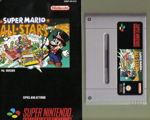SNES Spiel: Super Mario All Stars (= Mario Bros. Teil 1+2+3+4) + Original deutsche Anleitung, aber ohne Originalverpackung (für SNES Super Nintendo, PAL, deutsch)