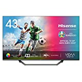 Hisense 43AE7400F UHD TV 2020 - Smart TV, Resolución 4K, Dolby Vision, Wide Color Gamut, audio DTS Virtual-X, Ultra Dimming, Vidaa U 4.0, 43', con Alexa integrada