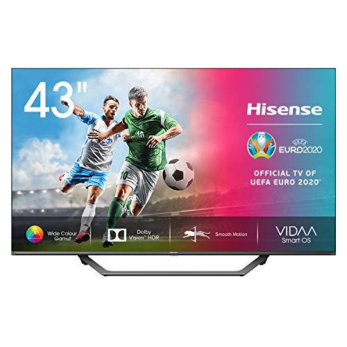 "Hisense 43AE7400F UHD TV 2020 - Smart TV, Resolución 4K, Dolby Vision, Wide Color Gamut, audio DTS Virtual-X, Ultra Dimming, Vidaa U 4.0, 43"", con Alexa integrada"