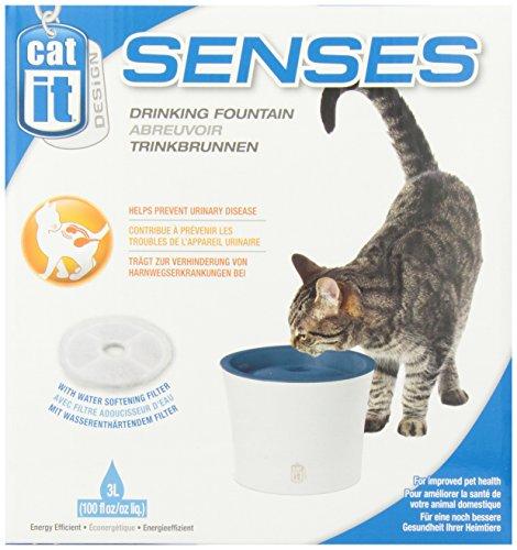 """Catit 50761 Senses Trinkbrunnen """"Fresh & Clear"""" 3 L für Katzen mit Softfilter - 4"""