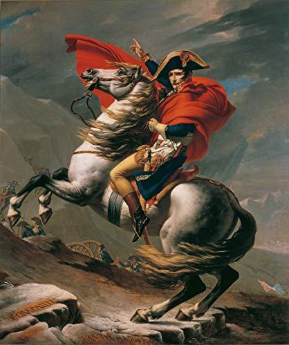Jacques Louis David Giclée Tela Stampa La Pittura Poster Riproduzione(Napoleone al Gran San Bernardo)