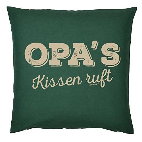 Art & Detail Shirt Coussin Inscription Opa Papa Dad Fête des pères Opas Coussin Appel – Comme Cadeau