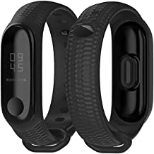 Mijobs Compatible Xiaomi Mi Band 3, Soft Silicone Replacement Bands Breathable Soft Strap Bracelet Accessories Compatible Xiaomi Mi Band 4 Smart Watch Bracelet Wristband with Clasp