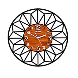 xutingting Wall Clocks Creative Acrylic 3D Geometric Round Wall Clocks with Wall Stickers Silent Quartz Circle Wall Clock Modern Design Living Room