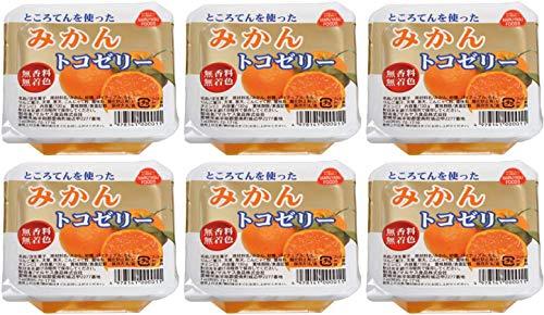 無添加 フルーツ トコ ゼリー ( みかん )130g ×6個★ コンパクト ★ トコゼリーオレンジは、オレンジをミキサーに かけて作ったジュースと国産りんごジュースを 合わせ、土佐の海で採れた天草・寒天・特製蒟蒻粉 で固めたゼリーです。香料・保存料・着色