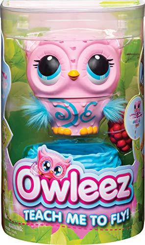 Owleez 6053359 - Animal con Volante Interactivo, Color Rosa