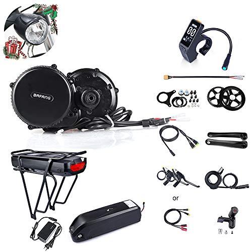 JUNSTAR Mountain Bike Mittelmotor Rennrad Elektrischer Mittelmotor Bafang BBS02B 48V 750W (MM G340.750) Bike Conversion Kit mit Batterie und LCD-Anzeige