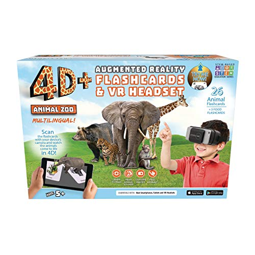 4d + Utopía 360 ° Animal Zoo Tarjetas Realidad
