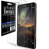 TECHGEAR [3 Stück Bildschirmschutz Kompatibel mit Nokia 6.1 - [ghostshield] Genuine verstärkte TPU Bildschirmschutzfolie Guard mit Gesamte Display Deckung inkl. Gebogener Bereich