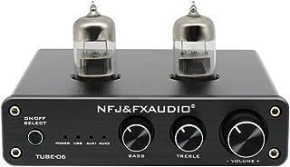 Goolsky TUBE-06 Tube Preamplifier Home Audio Tube 6N3 Pre Amplifier Input PC-USB AUX Bass&Treble Adjustment DC12V/1A Power...