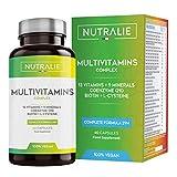 Multivitaminas y Minerales 29 Nutrientes Esenciales | Complejo Multivitaminico con Vitaminas A, B, C, D, E, K, Biotina, L-cisteína, Coenzima Q10 y 9 Minerales | 60 Cápsulas | Nutralie