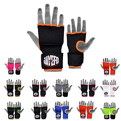Jayefo Inner Boxing MMA Gel Wraps Speed Wraps Black/Orange S/M