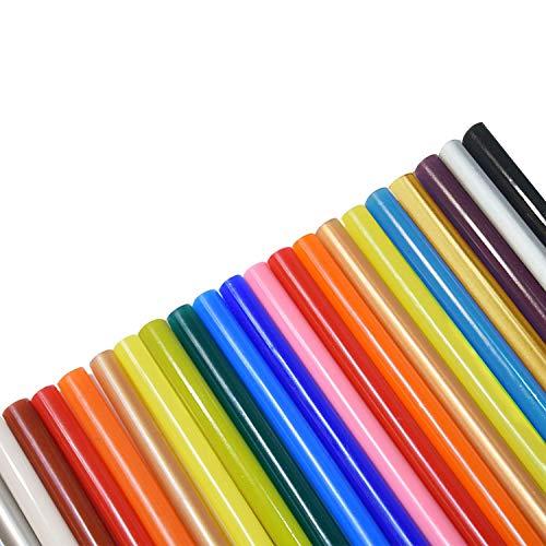 75 Stück Heißklebestifte 7x100mm Bunt für 7mm Heißklebepistole DIY Handwerk,Schmücken,kratives Basteln (15 Farben)