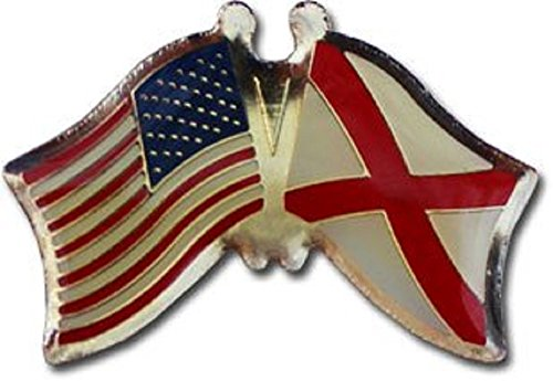 Wholesale Pack of 3 USA American State Alabama Flag Bike Hat Cap lapel Pin