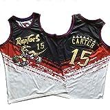 WWSC # 15 Carter Camiseta de Baloncesto Jersey Hombres Fan Edition Chaleco excelente Retro Golden...