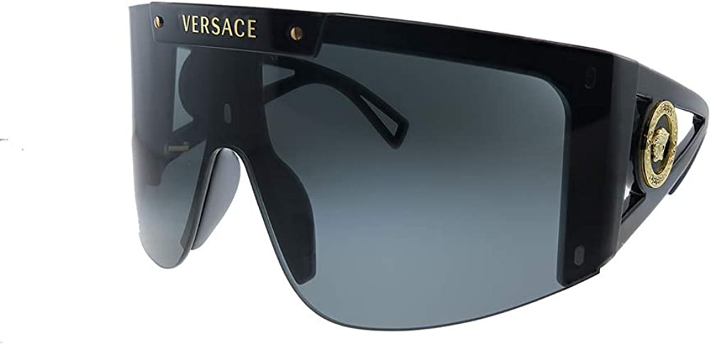 Versace, occhiali da sole da donna,  modello a mascherina , lenti colore grigio classico MEDUSA ICON VE 4393