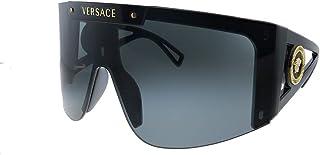 فيرساتشي VE 4393 GB1/87 نظارة شمسية شيلد سوداء بلاستيك عدسة رمادية
