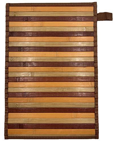 Eurostyle - Alfombra de bambú con base antideslizante Degrade (50 x 370 cm), color beige