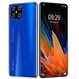 Smartphone Android 10 4g, Schermo Hd Da 7,2 ', Fotocamera Da 16+32 Mp, Batteria Da 5000mAh, Impronta Digitale/Sblocco Facciale, Doppia Scheda Sim, Telefono Cellulare 4g 4ram+Memoria Estesa 16GB Blue