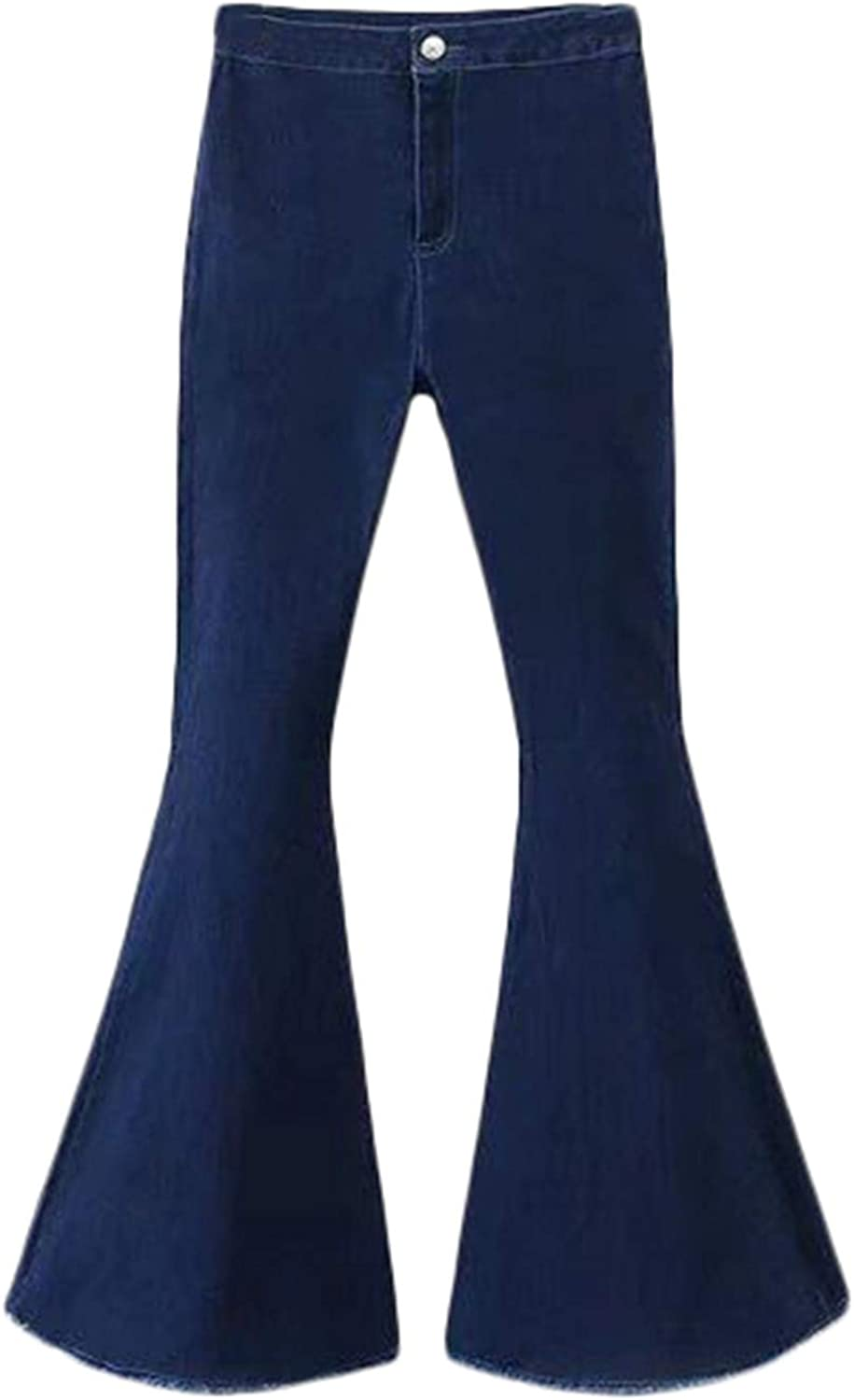 Andongnywell Women's Pure Color Slim Lad Bottom Ultra-Cheap New Shipping Free Shipping Deals Bell Pants Denim